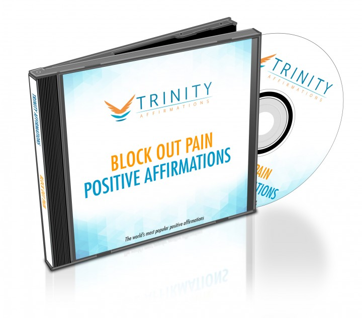 Block Out Pain Affirmations CD Album Cover