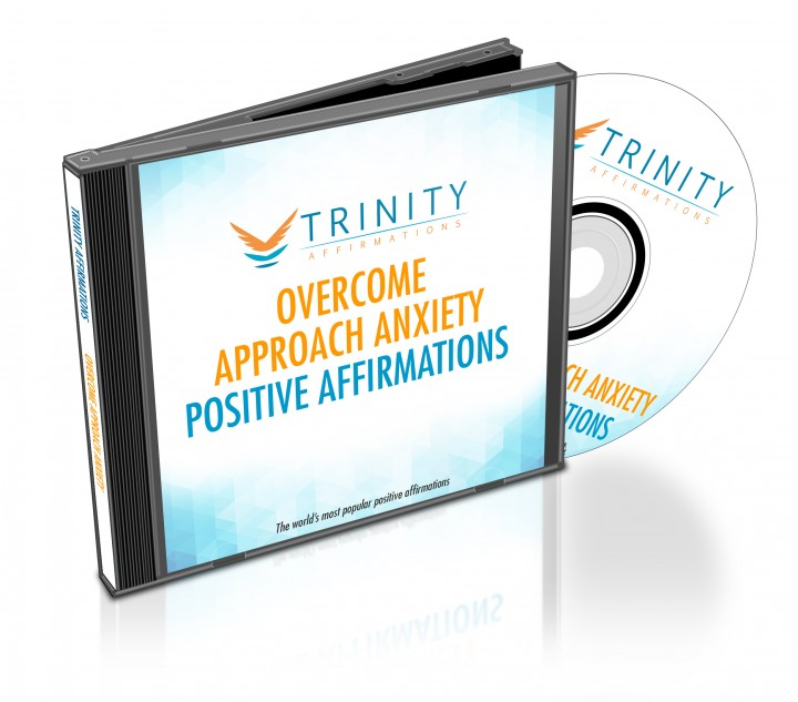 Overcome Approach Anxiety Affirmations CD Album Cover