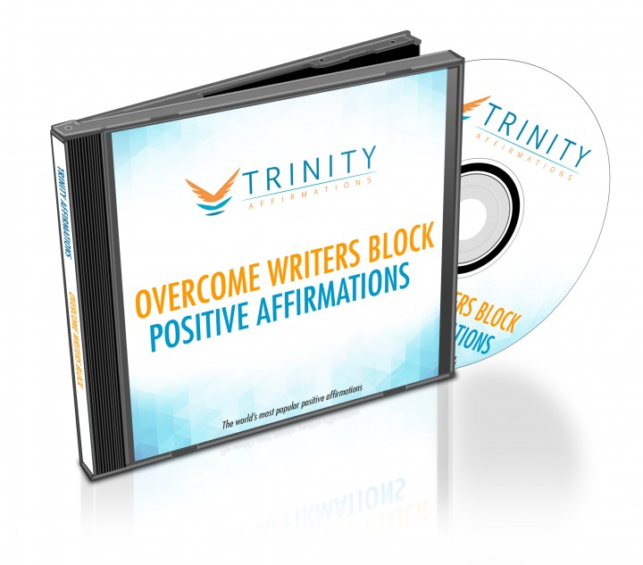 Overcome Writer's Block Affirmations CD Album Cover
