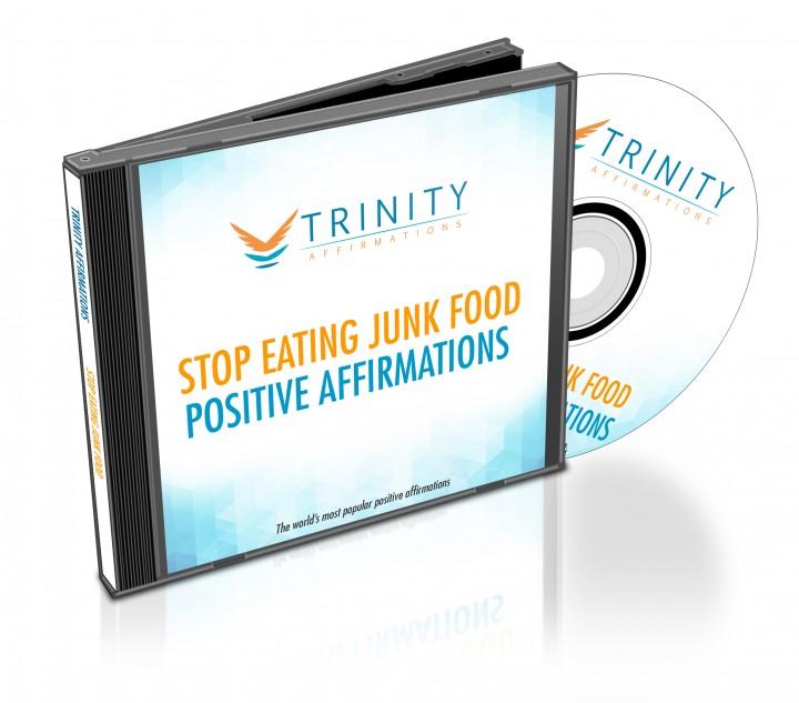 Stop Eating Junk Food Affirmations CD Album Cover